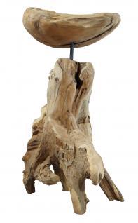 """Wohndekoration Skulptur """"Schale auf Teakwurzel"""""""