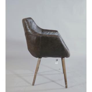"""Design Schalensessel """"Chuck Brown"""" Vintage-Leder braun - Vorschau 2"""