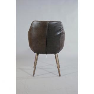 """Design Schalensessel """"Chuck Brown"""" Vintage-Leder braun - Vorschau 3"""
