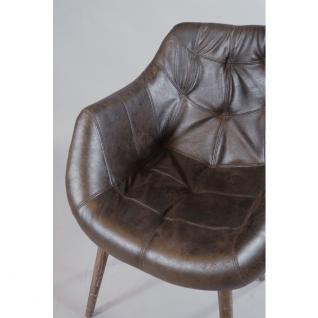 """Design Schalensessel """"Chuck Brown"""" Vintage-Leder braun - Vorschau 4"""