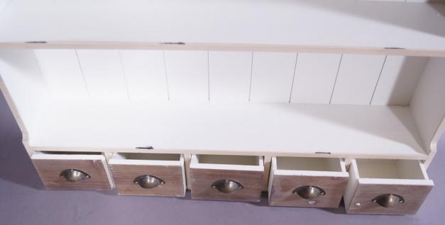 Wandregal Paris mit 5 Schubladen Vintage Look creme weiß - Vorschau 3