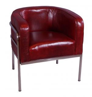 Designsessel Chicago Leder Royal Rouge Chrom