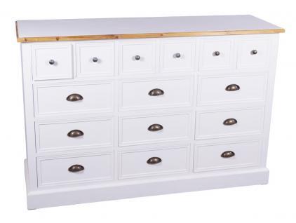 kommode marseille holz 15 schubladen vintage look wei. Black Bedroom Furniture Sets. Home Design Ideas
