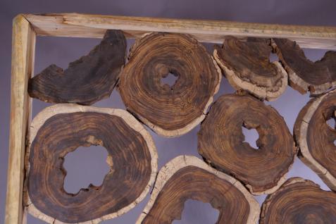 Wohndekoration Raumteiler aus massiven Teakholz-Scheiben - Vorschau 2