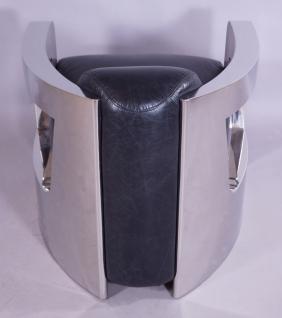 Design-Clubsessel Mars Leder Belon Black Chrom - Vorschau 4