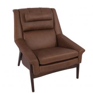 Lehnsessel Seacroft Chocolate Brown Ledersessel Echtleder Loungesessel Leder Sessel