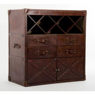 Kommode Vino Vintage-Leder
