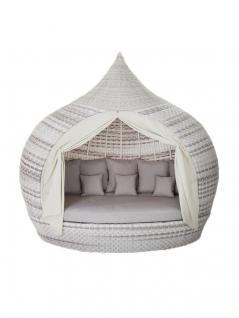 Liegeinsel Eye Catcher Lounge Harkers Island Wash Duo Weaving grau-weiß einseitig offen