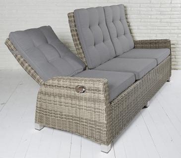 3-Sitzer Gartensofa Ibiza champagner Loungesofa Sofa Gartenmöbel Living-Sofa Polyrattan - Vorschau 3