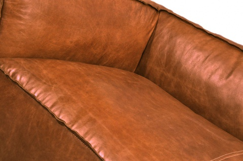 Clubsofa Longford 3-Sitzer Vintage-Leder Chrom - Vorschau 4