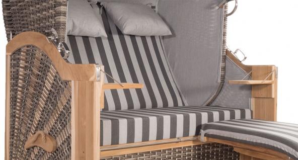 Strandkorb Kampen 2, 5-Sitzer White Oak Set 1 inkl. Industrierollen und Hydraulikdämpfer - Vorschau 4