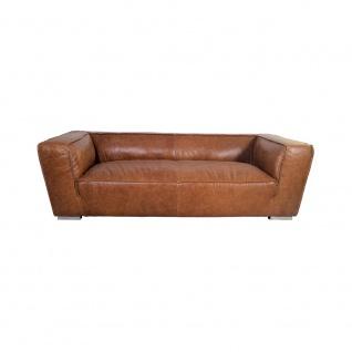 Clubsofa Longford 2, 5-Sitzer Vintage-Leder Chrom - Vorschau 2