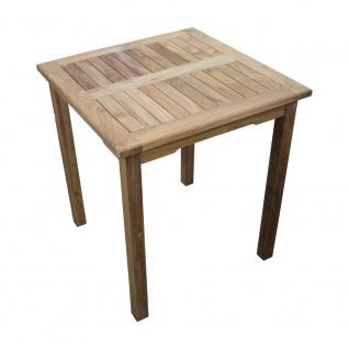 Teakholz Gartentisch rechteckig 70x70 Teak Tisch Beistelltisch Holztisch