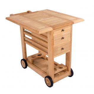Servierwagen Milltown Teewagen Teakholz Beistelltisch Tisch