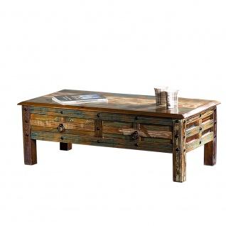 Couchtisch Delhi 2 Schubladen Recyceltes Holz Shabby Chic Tisch Beistelltisch