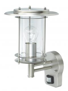 Wandlampe Außenleuchte Außenlampe Neptun Bewegungsmelder Edelstahl IP44 LED geeignet Wandleuchte Lampe