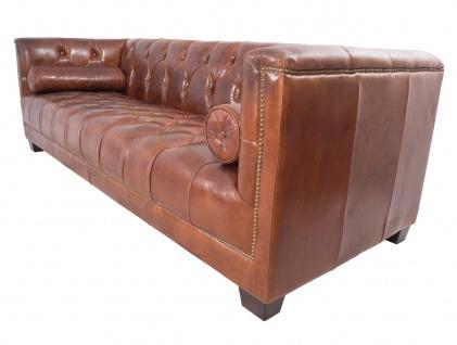 Chesterfield Glasgow - 3-Sitzer Sofa - Leder Vintage Cigar - Vorschau 4