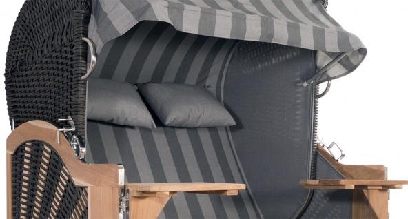 Strandkorb Kampen 2, 5-Sitzer Mocca Set 10 inkl. Industrierollen und Hydraulikdämpfer - Vorschau 2