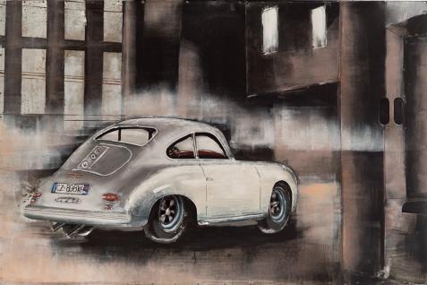 Handgefertigtes Metallbild Porsche back ca. 115x75 cm Kunst Bild 3D-Optik Wandbild