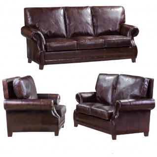 Ledergarnitur Wexford 3-Sitzer, 2-Sitzer und Sessel 3+2+1