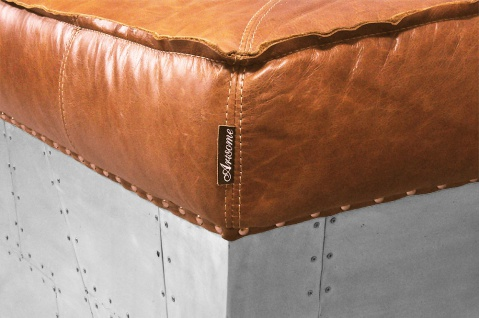 Clubsofa Longford 3-Sitzer Vintage-Leder Chrom - Vorschau 5