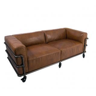 Design Clubsofa Wakefield 2, 5-Sitzer Cuba Braun Aluminium-Rohr
