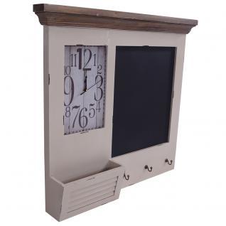Memoboard Kolding Wandorganizer Uhr Tafel Garderobe Landhaus