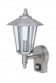 Wandlampe Außenleuchte Außenlampe Kandelaber Bewegungsmelder Edelstahl IP44 LED geeignet Wandleuchte Lampe