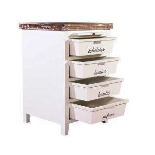 Küchenregal Dijon Landhaus Stil Holz Vintage Look creme weiß - Vorschau 2