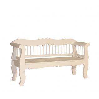 Bank Tira Landhausmöbel Stilmöbel Küchenbank Holzbank weiß