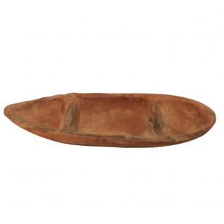 Ovale Deko-Schale mit drei Fächern