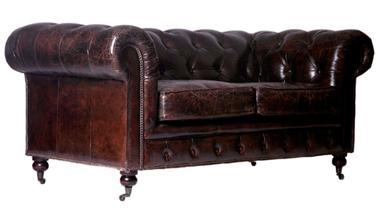 Chesterfield-Sofa 2-Sitzer