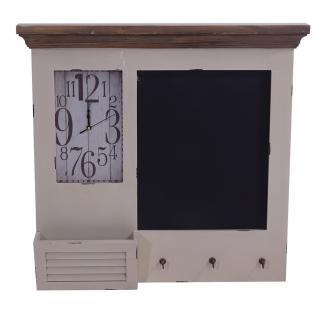 Memoboard Kolding Wandorganizer Uhr Tafel Garderobe Landhaus - Vorschau 2