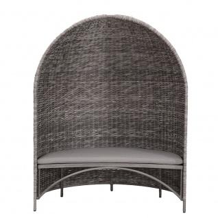 Strandmuschel Old Grey mit Sitzbank inkl. Sitzpolster in grau - Vorschau 2
