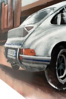 Handgefertigtes Metallbild Porsche 911 white ca. 115x75 cm Kunst Bild 3D-Optik Wandbild - Vorschau 2