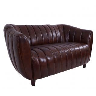 Clubsofa Juniper 2-Sitzer gerippt, Vintage Leder