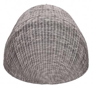 Strandmuschel Old Grey mit Sitzbank inkl. Sitzpolster in grau - Vorschau 5