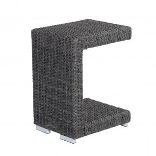 Barcelona Living Beistelltisch C-Form grau-mix Tischchen