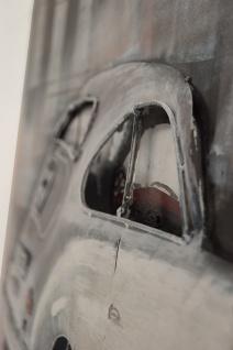 Handgefertigtes Metallbild Porsche back ca. 115x75 cm Kunst Bild 3D-Optik Wandbild - Vorschau 2