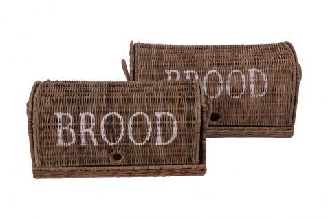 Brotbox Brood klein Rattankorb Brotkorb Aufbewahrung Naturrattan - Vorschau 5