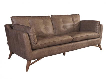 Design Clubsofa Bantry 3-Sitzer Vintage Leder Boeing Grey