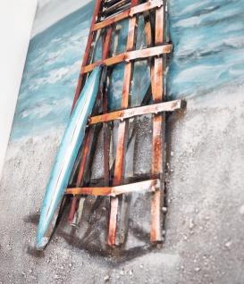 Handgefertigtes Metallbild Rescue ca. 120x80 cm Kunst Bild 3D-Optik Wandbild - Vorschau 2