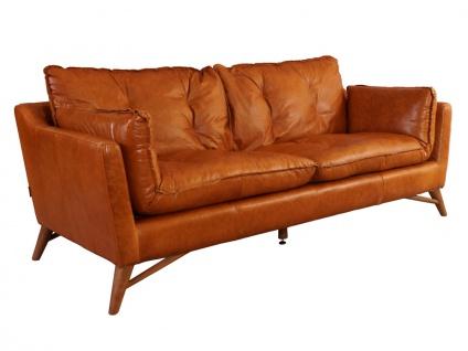 Design Clubsofa Bantry 3-Sitzer Vintage Leder Columbia Brown