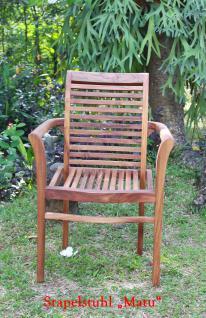 """Sitzgruppe """"Capri"""" 130 cm, Teakholz - Vorschau 5"""