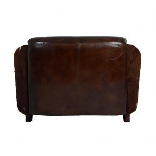 Clubsofa Flair 2-Sitzer Vintage Leder Kuhfell - Vorschau 4