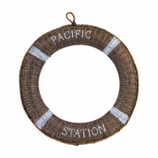 Rettungsring Pacific Station Ø 60 Deko Wanddekoration Hängedekoration