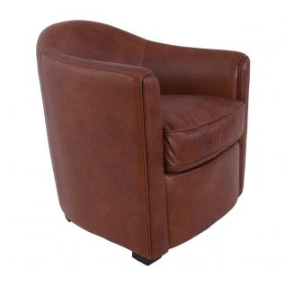 Design Clubsessel Kendal Leder Montaigne Brown