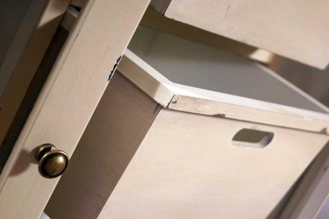 Sideboard Loire Landhaus Stil Holz Vintage Look creme weiß - Vorschau 5