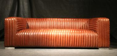 Designsofa Lamberton hell 2, 5-Sitzer Vintage Leder