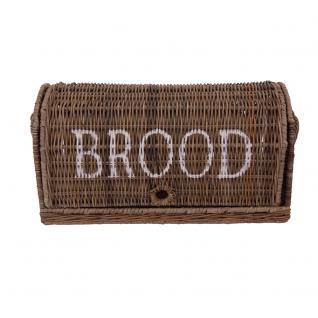 Brotbox Brood klein Rattankorb Brotkorb Aufbewahrung Naturrattan - Vorschau 2